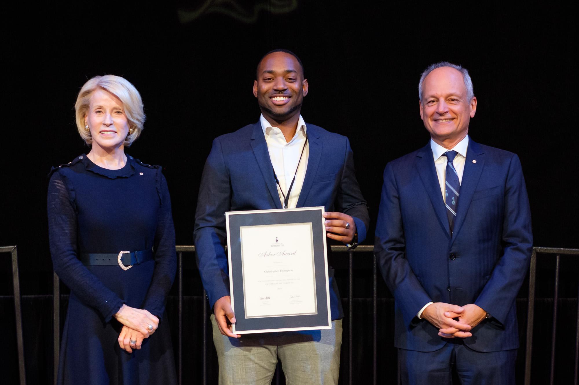 Photo of Arbor Award Recipient