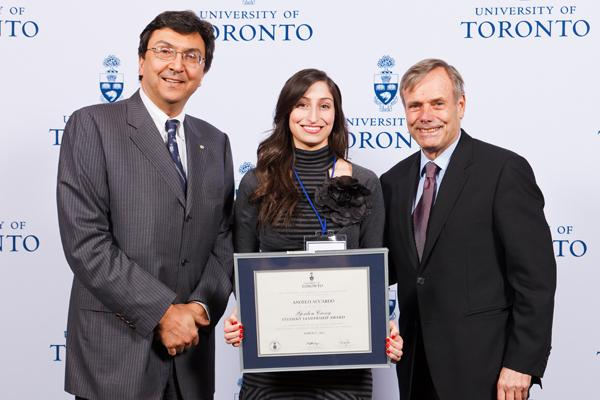 Angela Accardo - Gordon Cressy Student Leadership Award 2012 recipient