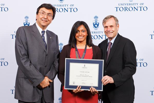 Valerie Aguiar - Gordon Cressy Student Leadership Award 2012 recipient