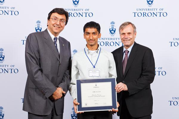 Amir Allana - Gordon Cressy Student Leadership Award 2012 recipient