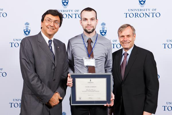 Conor Anderson - Gordon Cressy Student Leadership Award 2012 recipient
