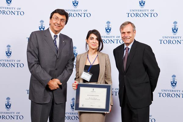 Banafsheh Bagheri - Gordon Cressy Student Leadership Award 2012 recipient