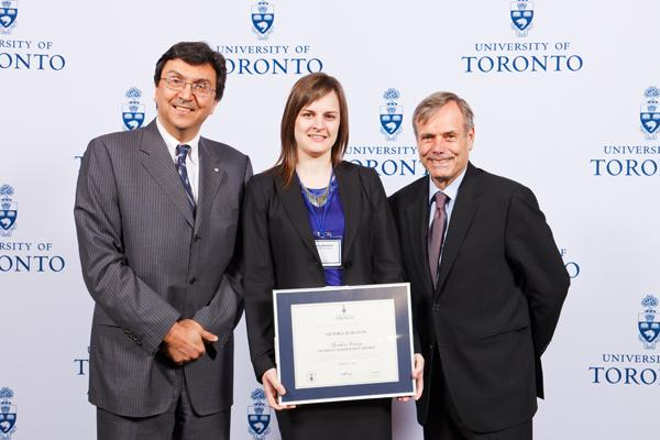 Victoria Baranow - Gordon Cressy Student Leadership Award 2012 recipient