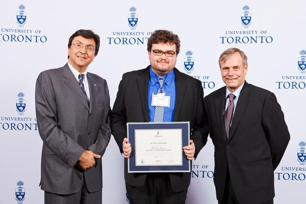 Justin Basinger - Gordon Cressy Student Leadership Award 2012 recipient