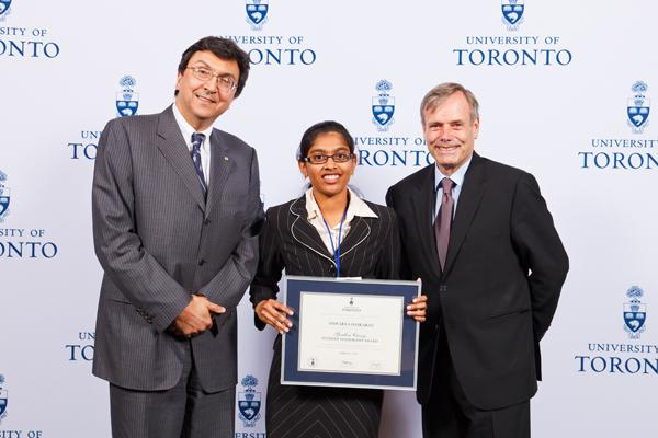 Aiswarya Baskaran - Gordon Cressy Student Leadership Award 2012 recipient