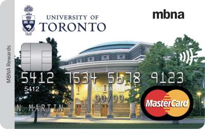 MBNA low rate student credit card