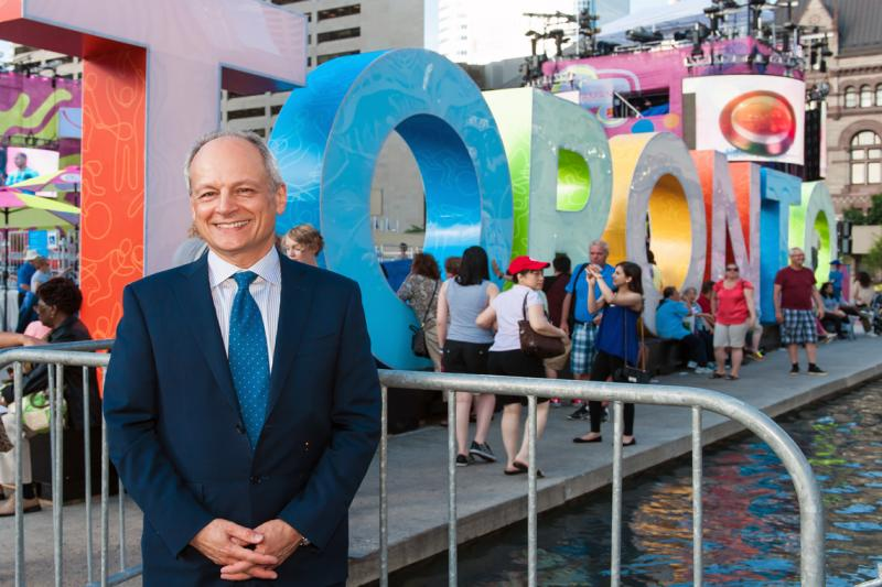 President Meric Gertler is the United Way's 2016 campaign cabinet chair for the education sector (photo by Lisa Sakulensky)