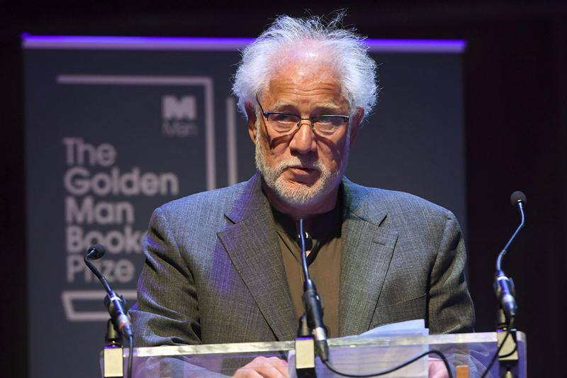 Michael Ondaatje speaks after winning the Golden Man Booker Prize at The Royal Festival Hall on July 8, 2018 in London, England (Photo by Stuart C. Wilson/Getty Images)