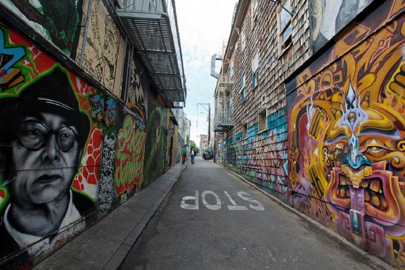 "Clarion Alley in San Francisco: ""In the alley, people are yelling back through the words they write on the walls,"" says U of T's Tracey Bowen (photo by John S Lander/LightRocket via Getty Images)"