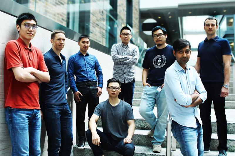 Alumni and graduate student interns from U of T's computer science and industrial engineering departments were part of the Layer 6 AI team that won the RecSys challenge and placed second in the Google Landmark Retrieval Challenge (photo by Ryan Perez)