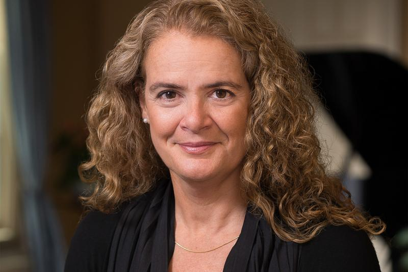 Astronaut and alumna Julie Payette officially became Canada's 29th Governor General in a ceremony on Parliament Hill Monday (photo by Sgt Johanie Maheu, Rideau Hall © OSGG-BSGG, 2017)