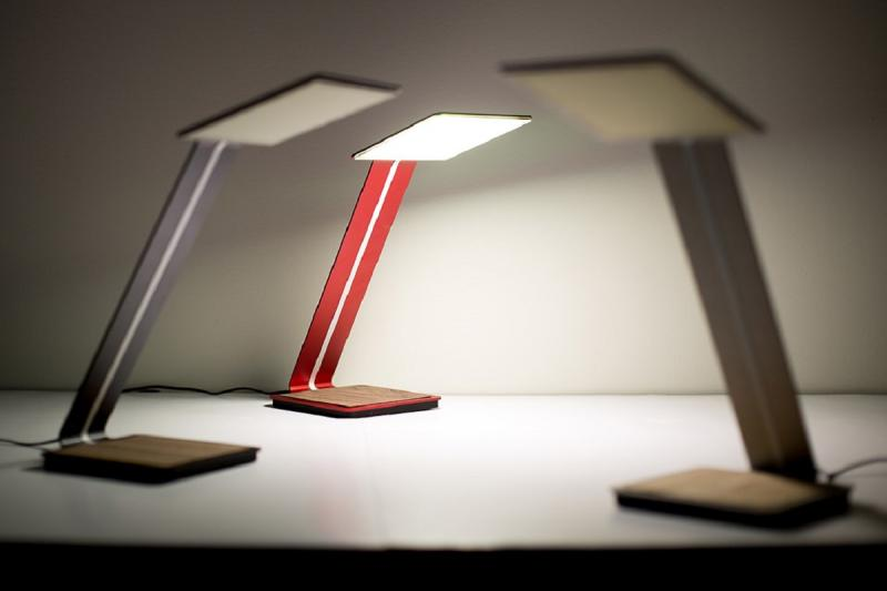 The aerelight A1 OLED Lamp is the first product by OTI Lumionics, founded by U of T alumnus Michael Helander (photo by Roberta Baker)