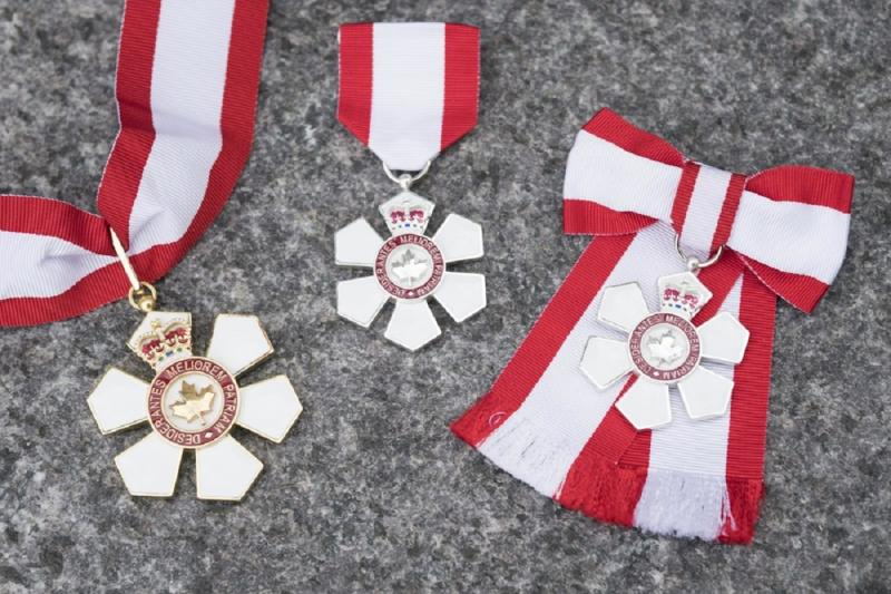 Photo of Order of Canada Medals. (photo by Sgt. Johanie Maheu, Rideau Hall)