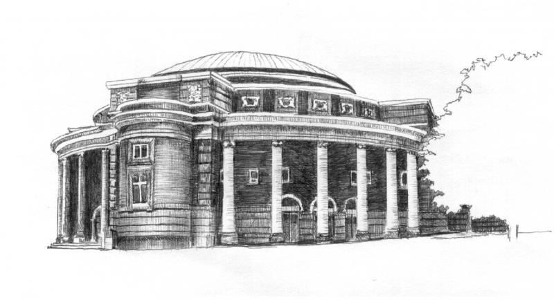 Sketch of convocation hall