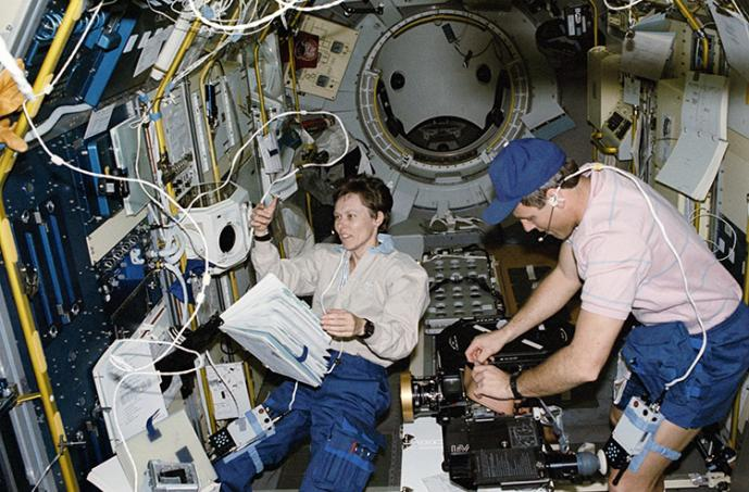 Can you name this U of T alumna and astronaut? (Photo courtesy of NASA)