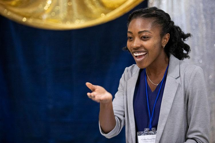 Medical student and spoken word artist Chika Stacy Oriuwa received an emerging academic award.