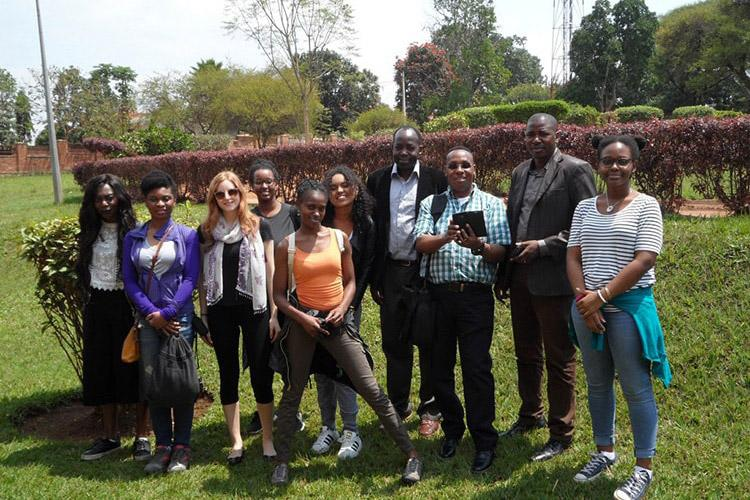 Edil Ga'al, fourth from left, on a trip to Rwanda in 2017 for a course on African systems of thought (photo courtesy of Chinezelum Azogu)