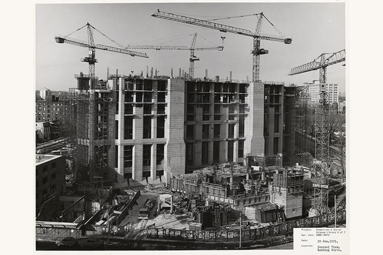Robarts Library under construction in 1972 (photo courtesy of University of Toronto Archives)