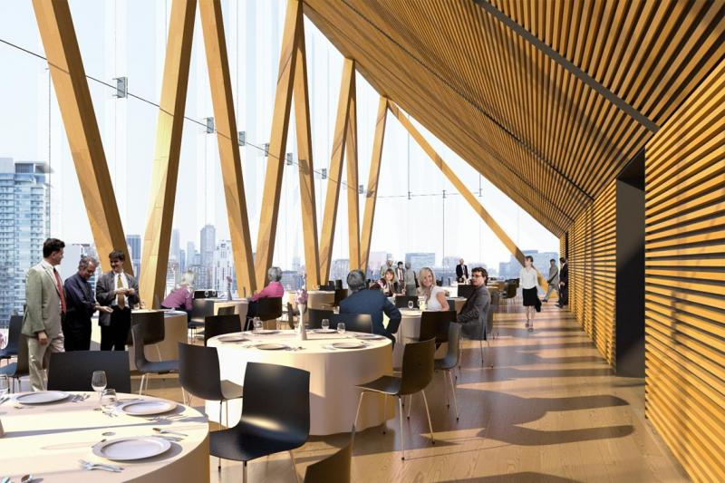 U of T's newly announced wood building is being praised online (renderings courtesy of MJMA and Patkau Architects)