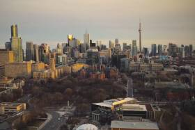 City of Toronto skyline seen from the University of Toronto (photo by Robert Lendvai)