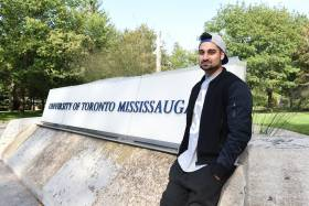 Undergraduate student Wali Shah is a spoken word artist who is the poet laureate for the city of Mississauga (photo by Mahmoud Sarouji/The Medium)