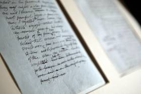 The original manuscript of Frankenstein by Mary Shelley was exhibited at the University of Oxford in 2010 (photo by Matt Cardy/Getty Images)
