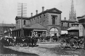 Toronto's St. Lawrence Market in 1888 (photo by Frank William Micklethwaite via Toronto Archives)