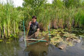 Devanshi Kukadia got first-hand experience in conservation practices as part of her Master of Environmental Science program at U of T Scarborough (photo courtesy of Devanshi Kukadia)