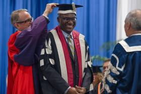 Professor Wisdom Tettey, the vice-president and principal of U of T Scarborough, said he has witnessed first-hand the transformative value of education (photo by Alexa Battler)