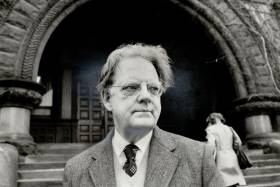 Northrop Frye, seen here in 1974 (photo by Boris Spremo/Toronto Star via Getty Images)