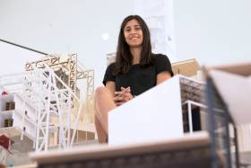 U of T grad Shalice Coutu wants to use architecture to improve people's lives (photo by Romi Levine)