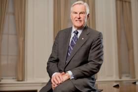 Michael Wilson was first elected chancellor of U of T for a three-year term in 2012 and renewed for a second term of three years in 2015 – the maximum allowed by the University of Toronto Act (photo by Tim Fraser)
