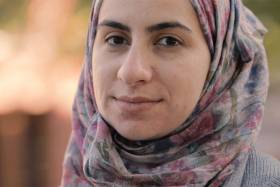Syrian revolutionary and U of T student Noura Al-Jizawi (screen grab of video by Lisa Lightbourn)