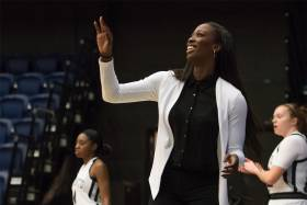 Two-time Olympian Tamara Tatham will continue to coach Varsity Blues women's basketball while working with Raptors 905 (photo by Martin Bazyl)