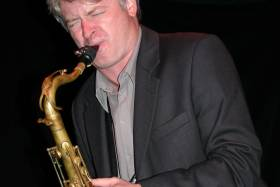 Photo of saxophone player