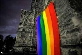 Pride flag at U of T