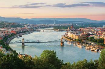 View of Prague, across the Danube River