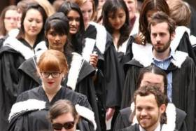 U of T grads leave convocation in robes