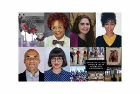 A collage of images shows some of the winners of the International Day for the Elimination of Racial Discrimination awards.