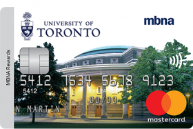MBNA Mastercard with image of Convocation Hall