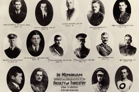 In Memoriam Graduates and Undergraduates of the Faculty of Forestry killed in Action in the War of 1914-1918. Courtesy U of T Archives A1972-0025/006 [P006.101].