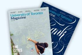 two U of T Magazines, printed and piled on each other