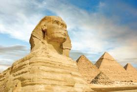 Sphinx and Pyramids of Giza