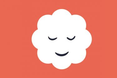 illustration of a smiling cloud