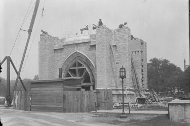 The Soldiers' Tower under construction 1923