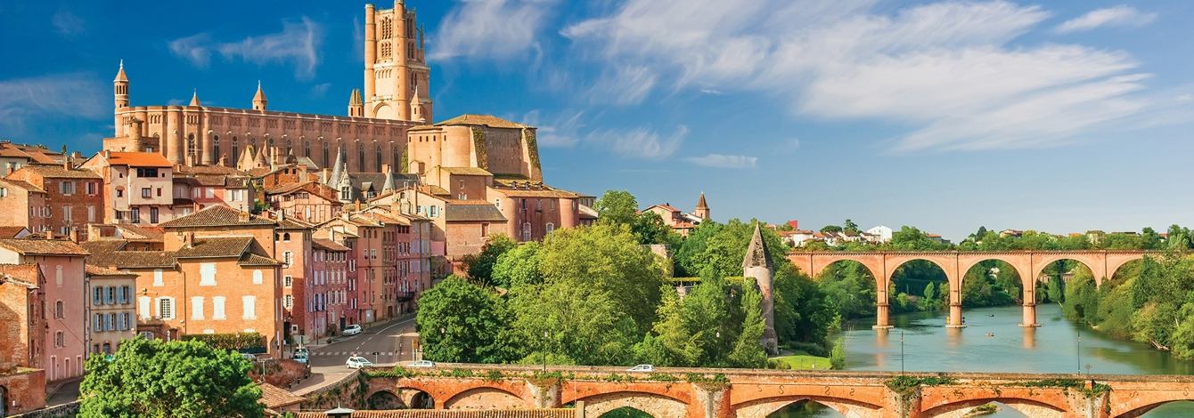 View of Albi, France from the river
