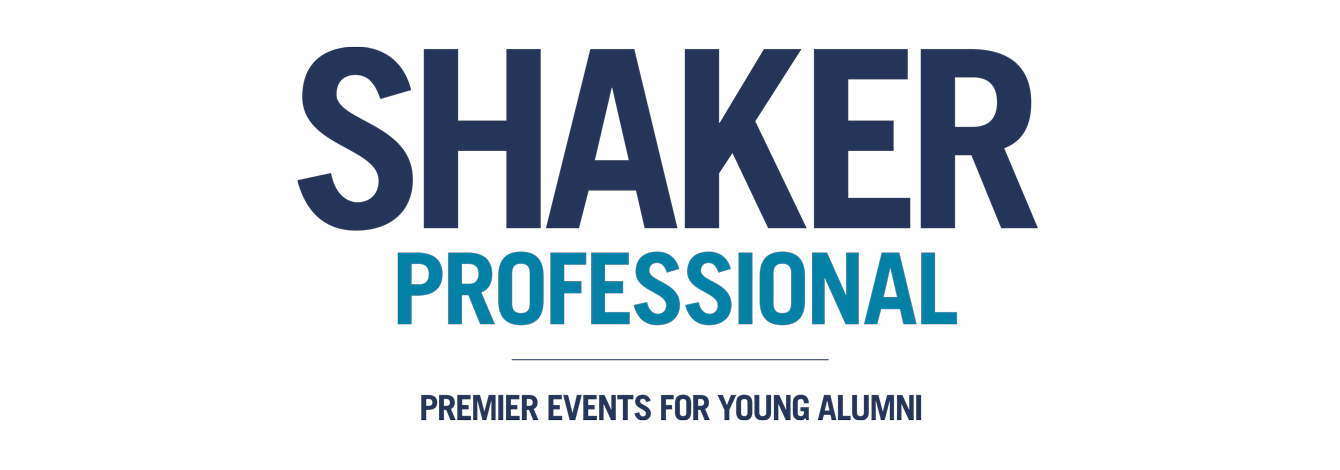 text logo - SHAKER Professional, premier event for young alumni
